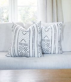 African Tribal Mudcloth No.2 Pillow Cover  by MINImalist2015