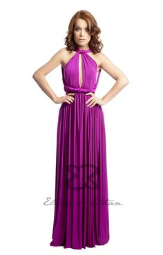 Eliza and Ethan - Multiway - Infinity - Bridesmaids Dresses - OneSize - Maxi MultiWrap Dress Color: Veronica