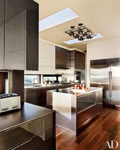 Love this Kitchen with Dacor wall oven, and a Sub-Zero refrigerator.