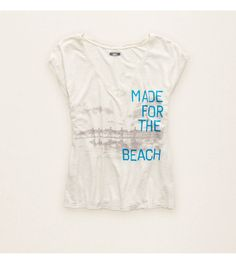 Heather Frost Aerie Graphic Beach Tee. Tell it like it is, girl. #Aerie