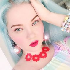 Green Hair, Blue Hair, Pink Hair, Kawaii Hairstyles, Sleek Hairstyles, Doe Deere, Long Hair Designs, My Little Pony Hair, Coloured Hair