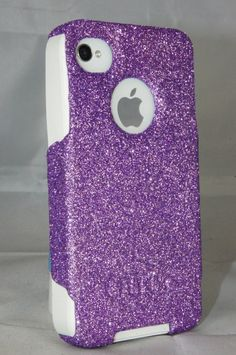 iphone otterbox cases | ... case Orchid Purple Glitter White Silicone Case for iPhone 4S & iPhone