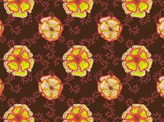 """""""fleurs du mal"""" by jjolimie  flower pattern neon fluo"""