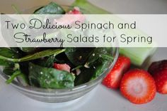 Fresh Tastes of Spring: Spinach and Strawberries... the dressing for the Strawberry, Cucumber, Spinach salad is so yummy!!