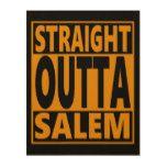 Straight Outta Salem Halloween Fanatic Wood Print #halloween #happyhalloween #halloweenparty #halloweenmakeup #halloweencostume