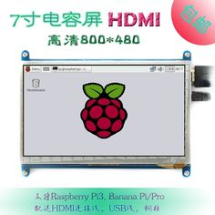 41.50$  Watch now - http://ali4h9.worldwells.pw/go.php?t=32788308920 - 7 inch LCD display monitor suitable for Raspberry Pi 3 with touch screen 800*480 computer HDMI HD BB BLACK 41.50$