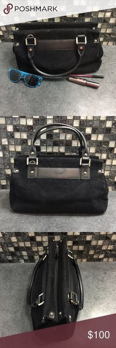 Kate Spade black velvet purse Gorgeous black velvet Kate Spade purse. It's a shoulder bag with lots of space on the inside. It does zip up and has one zip up side pocket inside. It's in flawless condition except for a small mark on the top of the front, it may be able to be removed.  🌸BUNDLE AND SAVE  🌸NO TRADES 🌸REASONABLE OFFERS CONSIDERED  🌸FEEL FREE TO ASK QUESTIONS 🌸I DO NOT MODEL kate spade Bags Shoulder Bags