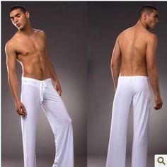 men's pajamas pics   Free shipping Sexy lingerie Slip loose Men's sports pants Breathable ...