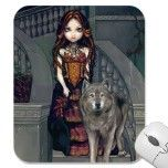 """Wolf Countess"" Mousepad by strangeling  Jasmine Becket Griffith"