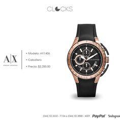 Reloj #ArmaniExchange para caballero #Gold #Black #SoloEnClocks http://instagram.com/clocksrelojes https://www.facebook.com/clocksrelojes https://twitter.com/ClocksRelojes