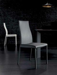 BLITZ, design: Studio Ozeta - Metal frame chair with soft eco leather covering.www.ozzio.com