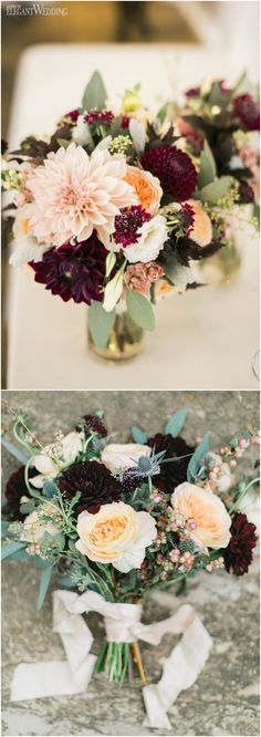 Like this one too ;) Burgundy Wedding Bouquets for Fall / Winter