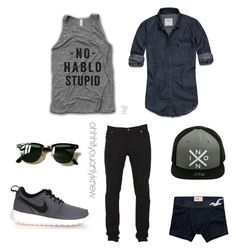 """""""Untitled #230"""" by ohhhifyouonlyknew on Polyvore featuring Abercrombie & Fitch, Cheap Monday, Nixon, NIKE, Hollister Co., Ray-Ban, men's fashion and menswear"""