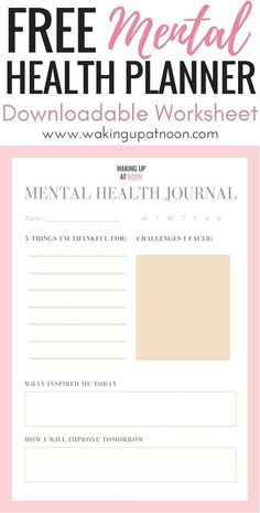 free mental health planner get access to my free menta