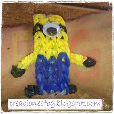 creaciones FOG: pulsera Minion de gomitas