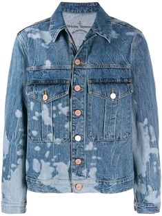 Vivienne Westwood Anglomania Type 3 Denim Jacket In Blue Denim Button Up, Button Up Shirts, Vivienne Westwood Anglomania, British Style, New Wave, Business Women, Size Clothing, Women Wear, Type 3
