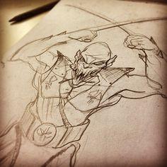 From my Instagram: @bokaier. Another piece of random fan art - Bo draws Baraka from Mortal Kombat 2.