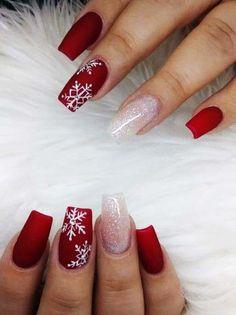 Cute Christmas Nails, Xmas Nails, Christmas Nail Art Designs, Holiday Nails, Christmas Ideas, Chrostmas Nails, Xmas Nail Art, Nails Inc, Prom Nails