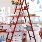 Old Recycled Ladder Ideas - Unique Rack for Home and Garden