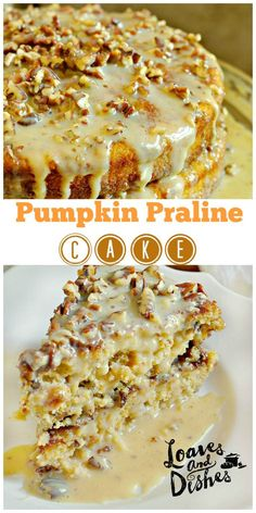 So simple SO SCRUMPTIOUS! Be ready for fall with this Pumpkin Praline Cake. complete instructions at www.loavesanddishes.net