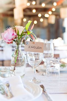 Sweet way of indicating where your wedding guests will be sitting