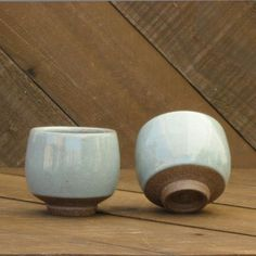 Teabowl - Celadon Blue - Stoneware - Yunomi - Ceramic Cup - Handmade - Cup - Go Play Clay Teabowl - Yunomi - Chawan - Ceramic Cup - Tea Bowl - Celadon Glaze - Wheel Thrown - Reduction - Go Play Clay - Guiliotis - Made to Order Pottery Mugs, Pottery Bowls, Ceramic Pottery, Pottery Art, Ceramic Tableware, Ceramic Bowls, Ceramic Art, Pottery Courses, Japanese Ceramics