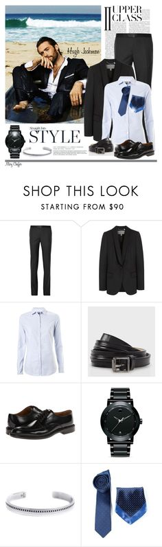 """""""The Man"""" by mcheffer ❤ liked on Polyvore featuring Lanvin, Mulberry, Tommy Hilfiger, Paul Smith, Movado, Lee Renee, menswear and starstyle"""