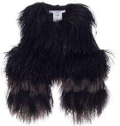 ShopStyle: GIVENCHY - Mongolian lamb fleece gilet