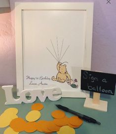 Items similar to Classic Winnie The Pooh & Piglet Guest Book Alternative, Baby Shower, Birthday, Guestbook Kit on Etsy Baby's First Birthday Gifts, Happy Birthday Name, Baby Birthday, First Birthdays, Birthday Book, Birthday Ideas, 10th Birthday, Birthday Photos, Baby Shower Fun