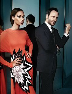 Tom Ford and Joan Smalls for WSJ Magazine Men's Style