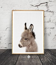 Esel-Print Baby Tierkindergarten Wand Kunst Dekor von LILAxLOLA