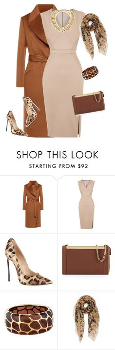"""outfit3596"" by natalyag ❤ liked on Polyvore featuring Jaeger, Oasis, Casadei, Foley + Corinna, Angélique de Paris, Burberry and Oscar de la Renta"