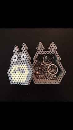Cute Totoro perler bead box.