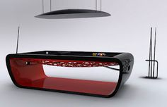 Black Light Billiard Table by Toulet
