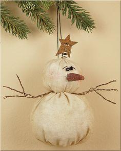 Tiny Christmas Snowman Ornament