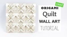 Easy Origami Quilt Wall Art Tutorial ★ DIY ★ Paper Kawaii