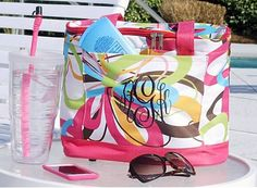 DEAL OF THE WEEK **ONLY $19.75 WITH PERSONALIZATION INCLUDED** What a cute Monogrammed Insulated Tote! Just the thing to keep a few drinks and snacks cool for you! This adorable insulated cooler tote is perfect to take anywhere - fun for all your outdoor gigs - very stylish, so practical and oh so sassy! Take these to the beach, to the park, parties, sporting events, tailgating and more!