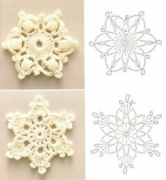 CHRISTMAS: Crochet Snowflake Patterns. Winter, the season of my birth. I didn't used to like snow, but now I'm wishing for a white Christmas.