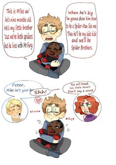Peter Parker & Miles Morales - this is intensely cute!