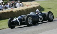 1961 Ferguson Climax P99 Four-Wheel-Drive F1 Racing Car. 243 hp, 2,495 cc DOHC Coventry Climax four-cylinder Hemi, with twin 58 Weber carburettors, five-speed transmission, independent front and rear suspension - Only four-wheel-drive car to win a Grand Prix (Stirling Moss, Oulton Park, 1961), won 1964 British hill-climb championship. Four Wheel Drive, F1 Racing, Stirling, Coventry, Grand Prix, Race Cars, Twin, British, Park