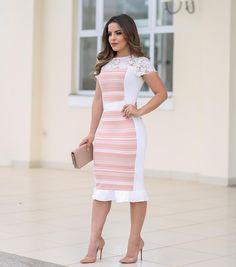 """4,176 Likes, 224 Comments - P A O L A   S A N T A N A (@paaolasantanaa) on Instagram: """"{Vestido Lady Like Maravilhoso da @cle_moda_evangelica} Um charme de vestido, uma opção para…"""""""