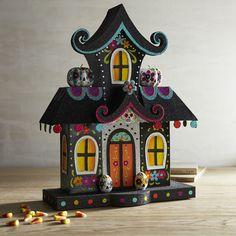 Glitter Dia de Los Muertos House | Pier 1 Imports