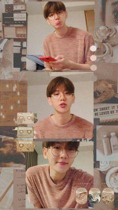 Exo Chanbaek, Exo Ot12, Chanyeol, Cute Funny Pics, Baekhyun Wallpaper, Cute Baby Wallpaper, Exo Album, Exo Fan Art, Exo Lockscreen