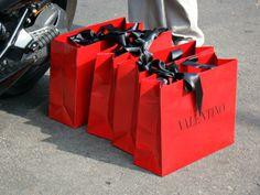 I love beautiful shopping bags!