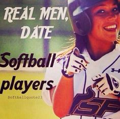 Real men date softball players. Softball Memes, Softball Problems, Softball Crafts, Softball Players, Girls Softball, Fastpitch Softball, Softball Stuff, Softball Things, Softball Pictures