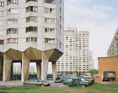 Prefabricated apartment blocks in St. Petersburg, Russia. Bezjak wanted to show ...