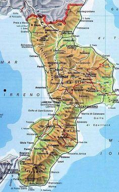 Calabria Map