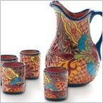 Talavera Cups and Pitcher, viva terra