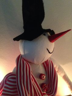 Christmas snowman  Pupazzo di Natale di TinyPollysBox su Etsy
