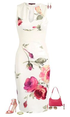 """""""Pink roses"""" by julietajj on Polyvore featuring Manolo Blahnik, Furla, Palm Beach Jewelry, CARGO, Pinko and Ray-Ban"""